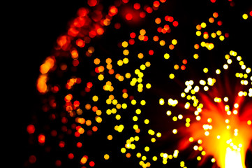Abstract background of out of focus lights
