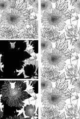 wallpaper with black flower