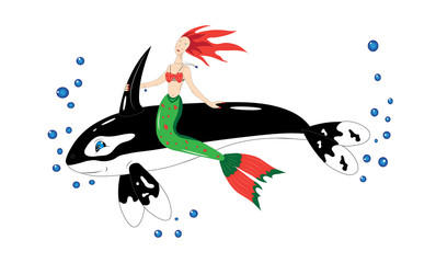 Whale the murderer and the mermaid.