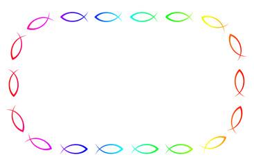 Bunter Ichthys Rahmen