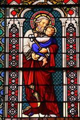 Foto op Plexiglas Stained Saint Joseph