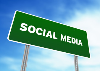 Social Media Highway Sign