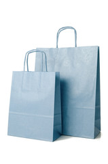 Blue shopping paper bags