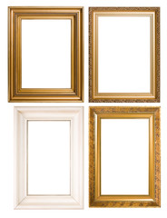 An assortment of classic picture frames