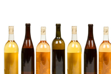Many Colorful Bottles of Wine