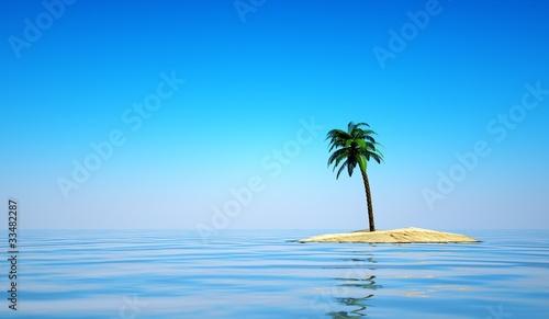 einsame insel mit palme stockfotos und lizenzfreie bilder auf bild 33482287. Black Bedroom Furniture Sets. Home Design Ideas