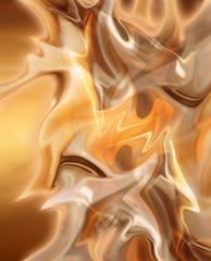 Абстрактный фоновый рисунок в виде волн золотистого цвета