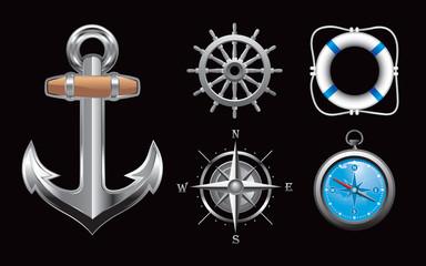Nautical symbols and tools
