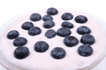 blueberries with yoghurt