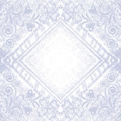 Grungy vector denim  floral background