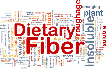 Dietary fiber background concept