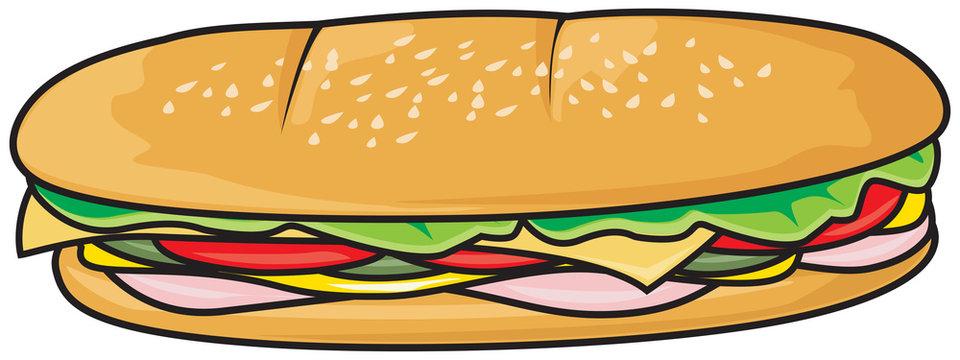 Fresh sandwich illustration