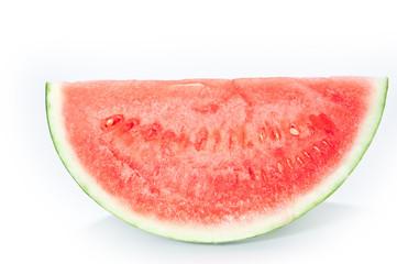 Viertel Wassermelone - Seitenansicht