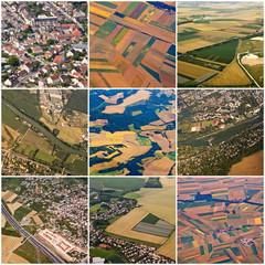 Région île de France, vues aériennes