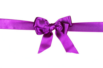 purple ribbon isolated on white