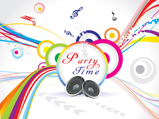 abstract colorful party background