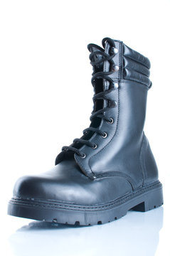 One military boot