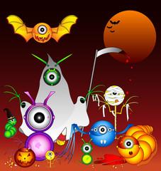 Aluminium Prints Creatures Halloween Monsters
