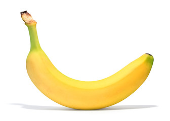 banana over white background
