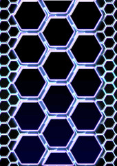 abstract background in the form of honeycombs