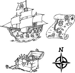 Drawing pirate elements