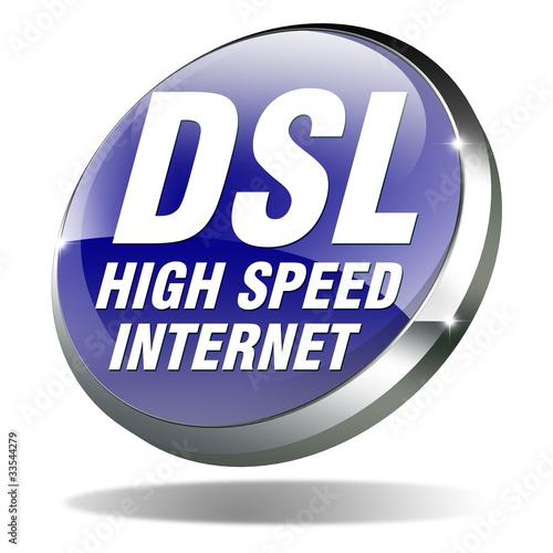 button dsl high speed internet blau wei 3d stockfotos und lizenzfreie bilder auf. Black Bedroom Furniture Sets. Home Design Ideas