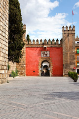 Eingang zum Alcázar von Sevilla, Spanien
