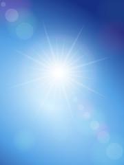 sunspot and blue sky