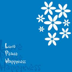 Grusskarte Blumen Blau - Hintergrund
