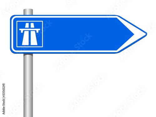 panneau bleu direction autoroute photo libre de droits sur la banque d 39 images. Black Bedroom Furniture Sets. Home Design Ideas