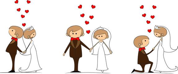 жених и невеста в любви, вектор