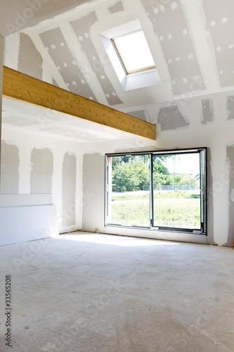 Construction maison avec mezzanine photo libre de droits for Maison avec mezzanine