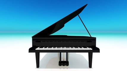 ビーチのピアノ