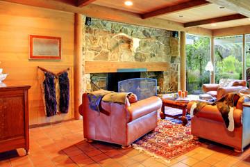 Cowboy horse ranch living room