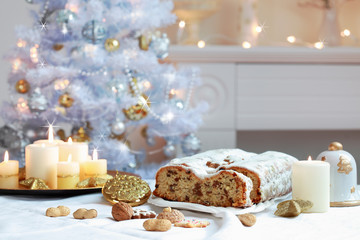 Poster Dairy products Christmas stollen