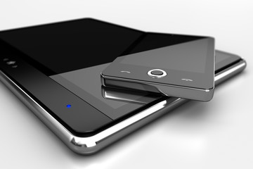 Digital pad with cell phone