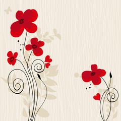 Fototapete - Romantic floral background