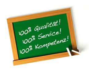 100% Qualität! 100% Service! 100% Kompetenz!