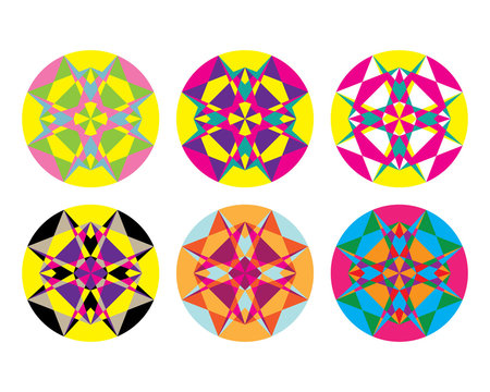 Kaleidoscope geometric pattern. Abstract vector background