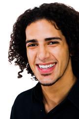 Latin American man smiling
