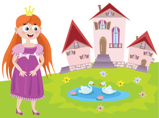 Fairy or princess with tower