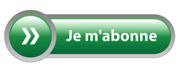 """Bouton Web """"JE M'ABONNE"""" (s'abonner abonnement inscription vert)"""