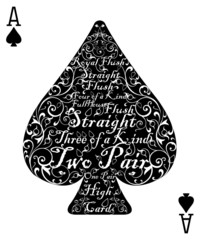Poker card spade ace - the perfect card