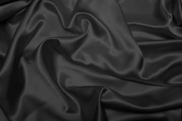 Sensuous Smooth Black Satin