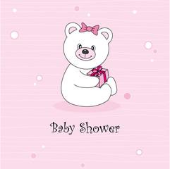 Baby shower. Bear