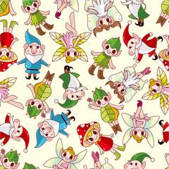 seamless elf pattern.