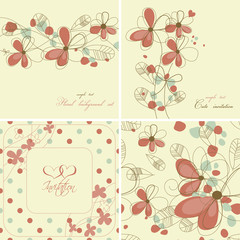 Vintage floral cards collection