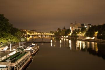 Paris - riverside in night