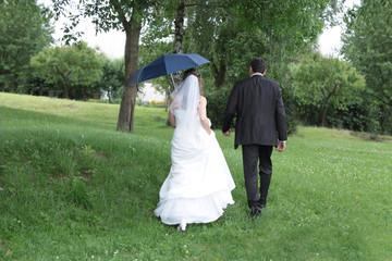 Regenwetter zur Hochzeit