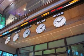 Timezone Stock Clocks